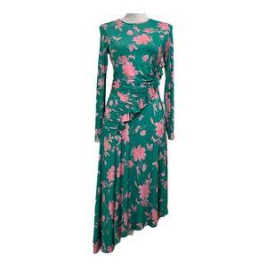 Asos dress sheath asymmetrical ruffle ruched 6